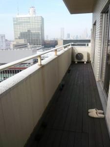 渋谷ホームズ バルコニー