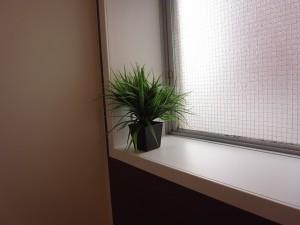 市ヶ谷ホームズ バスルームの窓