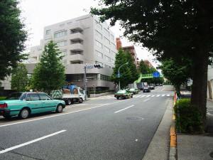 ジェントルエア神宮前 前面道路