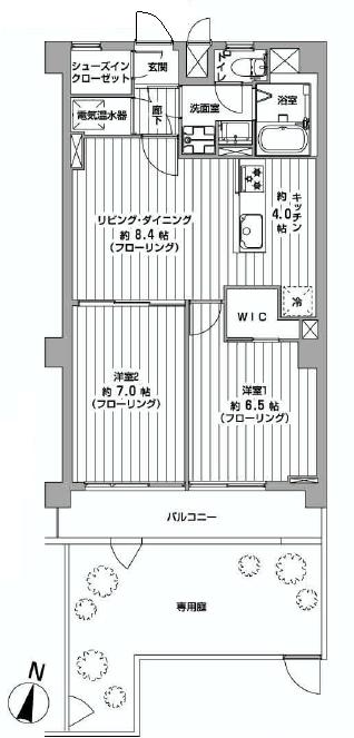 財形第3御殿山マンション 102号室間取り
