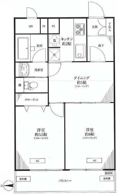 マンション新宿御苑  間取り図