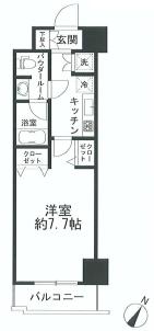 パレステュディオ渋谷  間取り図