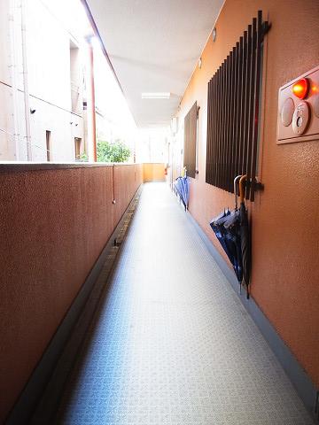 クレール上野毛 外廊下