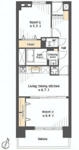 月島四丁目住宅 間取図