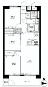 東建第2上町マンション  間取図