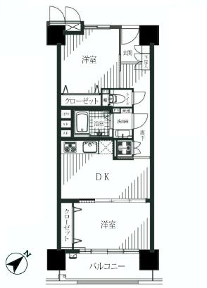 月島四丁目住宅  間取り図