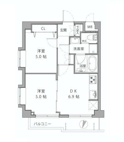 ライオンズシティ渋谷本町  間取り図