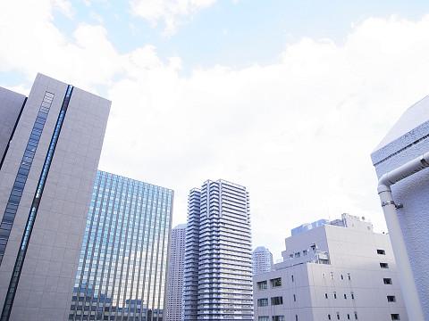 中銀新川マンシオン ルーフバルコニー眺望
