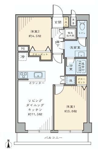 柿の木坂スカイマンション  間取り図