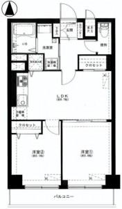 柿の木坂スカイマンション 間取図