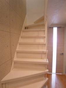 玉川コーポラス 階段