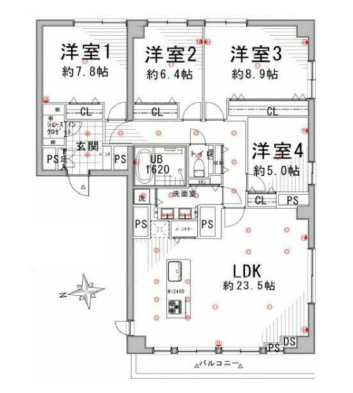 池田山スカイマンション  間取り図