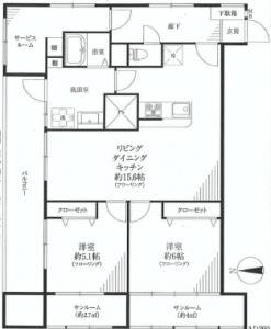 第三宮庭マンション 間取図