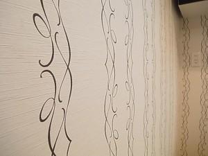ライオンズマンション原宿 洗面室壁紙