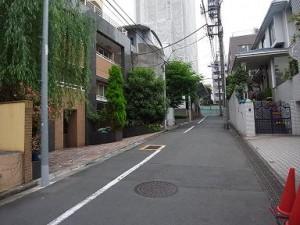 松涛マンション 周辺道路