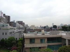 松涛マンション バルコニーからの景色