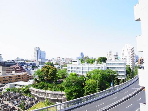 新池田山マンション 外廊下 眺望
