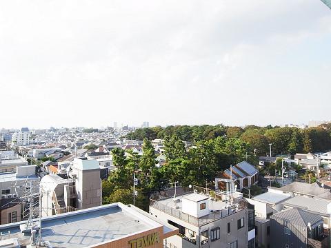 チサンマンション自由ヶ丘 外廊下眺望