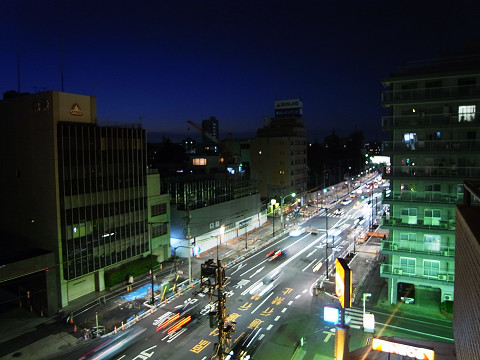 サンクタス松濤ロワール 山手通り夜景