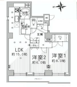 桜新町サンハイツ  間取り図