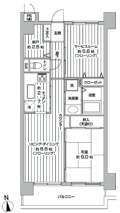 新宿御苑サニーコート 間取り