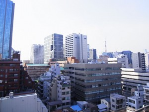 三田ハイデンス  マンション廊下眺望