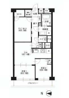西新宿ハウス  間取り図