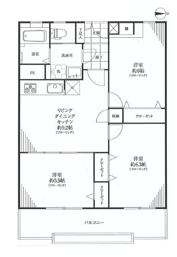 南平台アジアマンション   間取り図