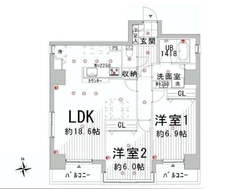 パーク・ハイム文京春日  間取り図