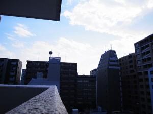 中銀新川マンシオン 外廊下眺望