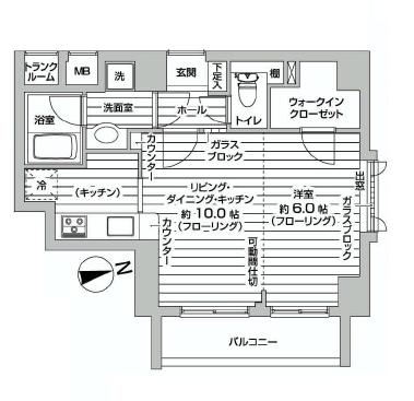 ジェイパーク荏原中延ステーションサイド  間取り図