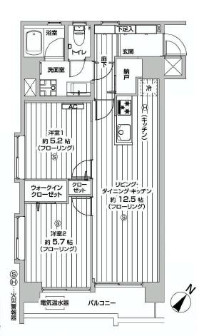 薬王寺ニューハイツ  間取り図