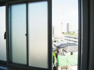 牛込中央マンション サニタリールーム眺望