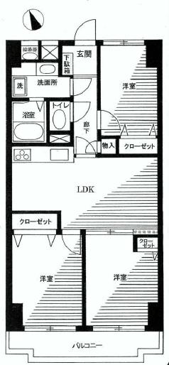 飯田橋第二パークファミリア 間取り