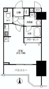 シャルムコート新宿ステーションパレス 間取図