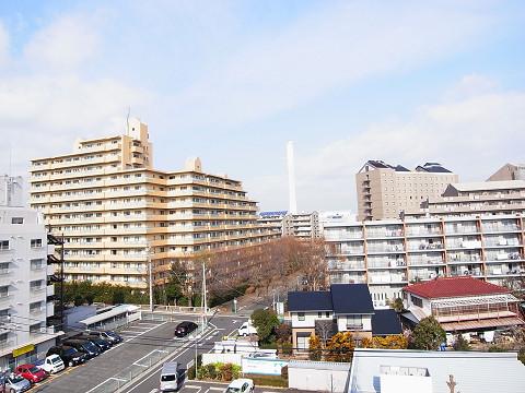 千歳船橋ヒミコマンション 外廊下眺望