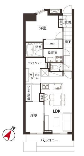 募集中 802号室(2SLDK/57.79㎡)7,280万円