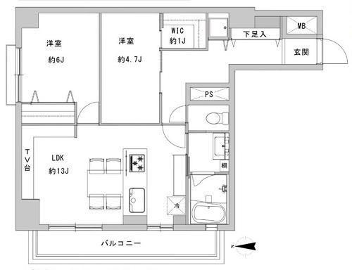 募集中 702号室(2LDK/60.43㎡)7,690万円