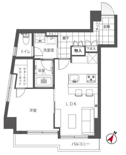 募集中 303号室(1LDK/43.58㎡)4,180万円【PRICE DOWN】