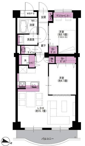 募集中 223号室(2LDK/58.03㎡)3,890万円