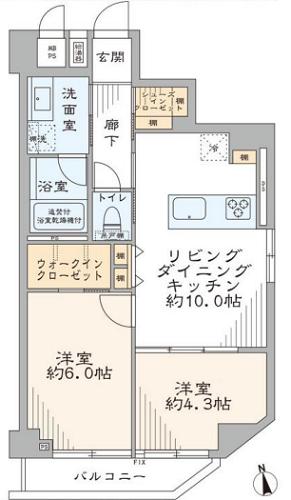 募集中 1301号室(2LDK/49.53㎡)5,680万円