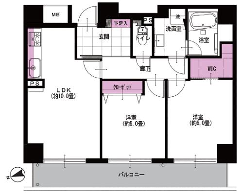 募集中 1105号室(2LDK/54.16㎡)6,190万円
