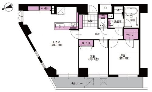 募集中 706号室(2LDK/61.84㎡)7,190万円