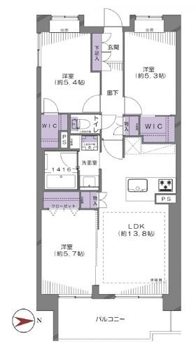 募集中 1422号室(3LDK/69.00㎡)4,990万円