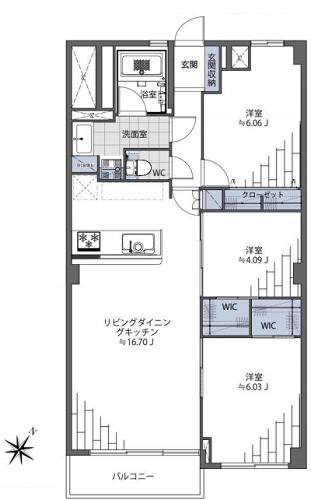募集中 703号室(3LDK/72.64㎡)5,699万円