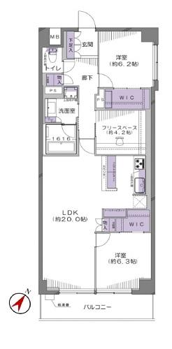 募集中 902号室(2LDK+FS/87.81㎡)7,680万円