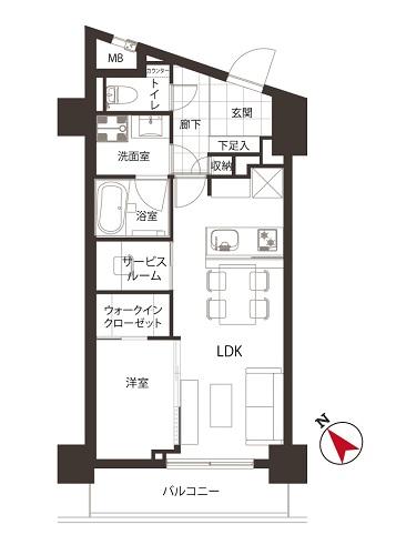 募集中 302号室(1SLDK/43.41㎡)5,180万円
