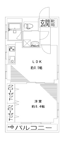 募集中 401号室(1LDK/44.64㎡)2,298万円