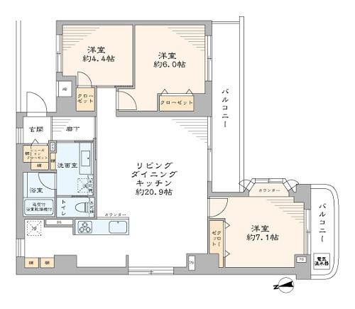 募集中 404号室(3LDK/78.94㎡)6,780万円