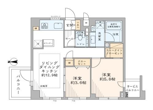 募集中 101号室(2LDK/50.36㎡)4,280万円